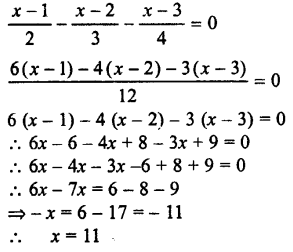 Selina Concise Mathematics class 7 ICSE Solutions - Simple Linear Equations (Including Word Problems) -c21..