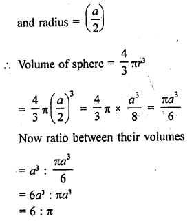 RD Sharma Class 9 Solutions Chapter 21 Surface Areas and Volume of a Sphere VSAQS 10