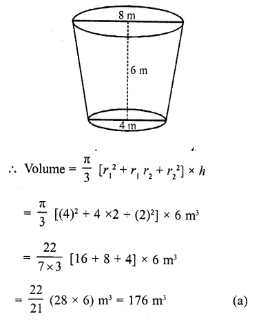RD Sharma Class 10 Solutions Chapter 14 Surface Areas and Volumes MCQS 13