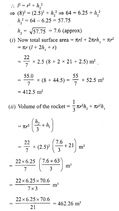 RD Sharma Class 10 Solutions Chapter 14 Surface Areas and Volumes Ex 14.2  2a