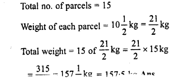 Selina Concise Maths class 7 ICSE Solutions - Fractions (Including Problems)-E9