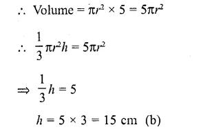 RD Sharma Class 10 Solutions Chapter 14 Surface Areas and Volumes MCQS 5