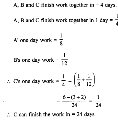Selina Concise Mathematics class 7 ICSE Solutions - Unitary Method (Including Time and Work)-c11
