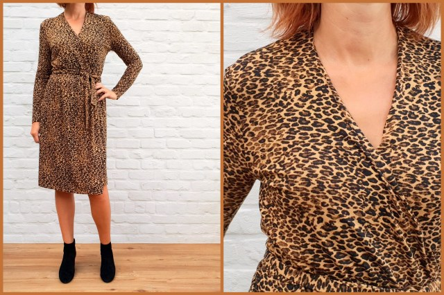 leopard dress (collage)