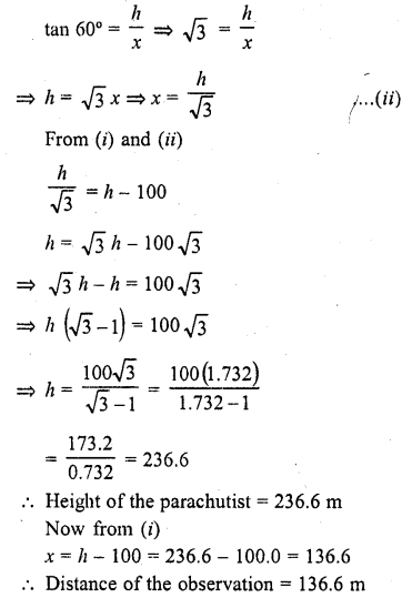 RD Sharma Class 10 Solutions Chapter 12 Heights and Distances Ex 12.1 - 12aa