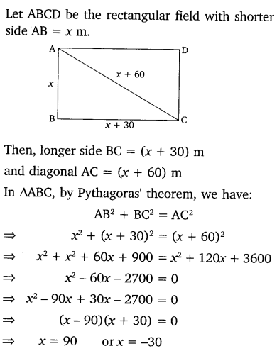 NCERT Solutions for Class 10 Maths Chapter 4 Quadratic Equations 27
