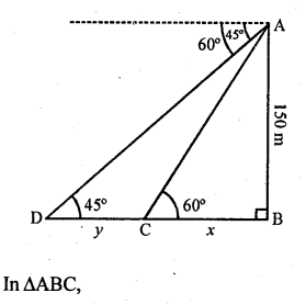 RD Sharma Class 10 Solutions Chapter 12 Heights and Distances Ex 12.1 - 56