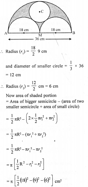 RD Sharma Class 10 Solutions Chapter 13 Areas Related to Circles Ex 13.4 - 43a