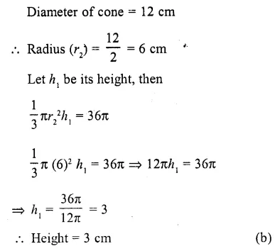 RD Sharma Class 10 Solutions Chapter 14 Surface Areas and Volumes MCQS 26