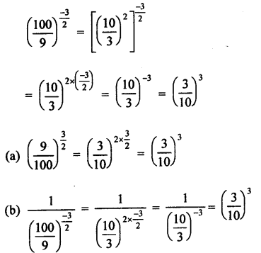 RD Sharma Class 9 Solutions Chapter 2 Exponents of Real Numbers MCQS - 13a