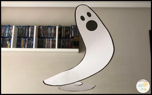 Decoraciones fáciles para Halloween. Fantasma