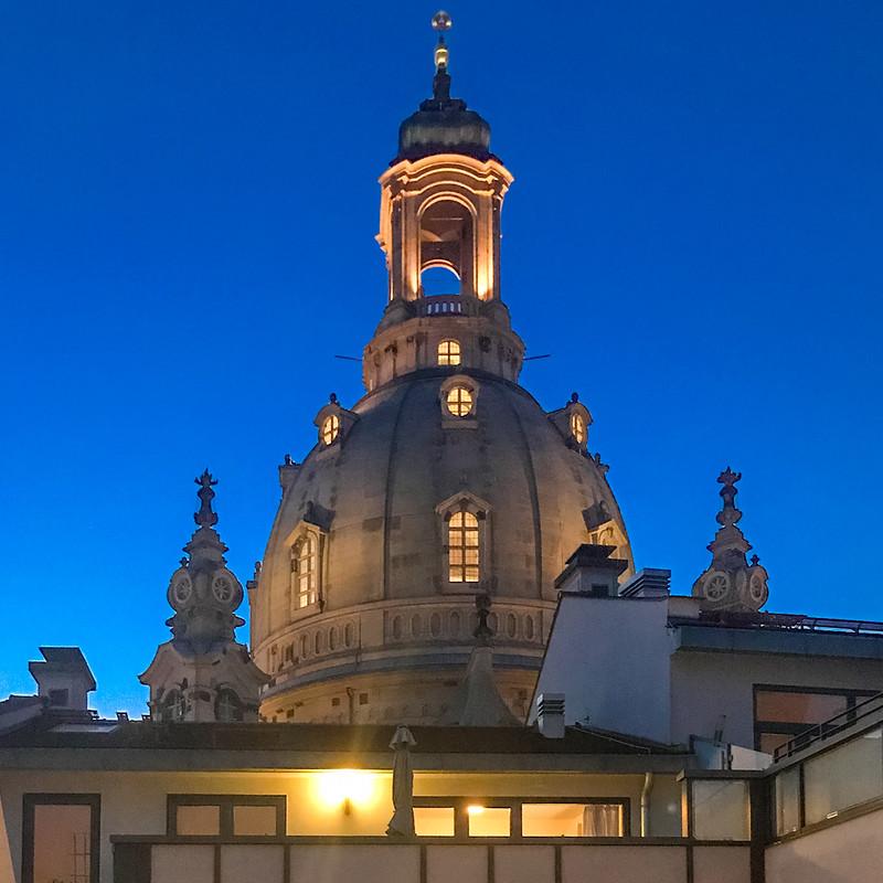 Spektakuläre Aussicht auf die Frauenkirche