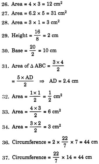 NCERT Solutions for Class 7 Maths Chapter 11 Perimeter and Area 88