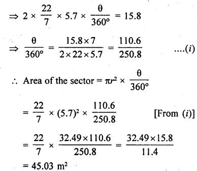 RD Sharma Class 10 Solutions Chapter 13 Areas Related to Circles Ex 13.2 - 12a