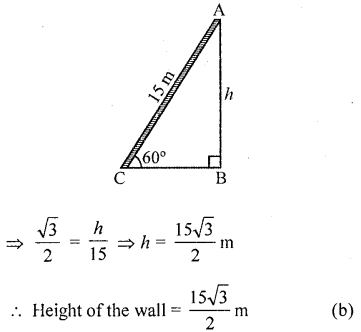 RD Sharma Class 10 Solutions Chapter 12 Heights and Distances MCQS - 23aa