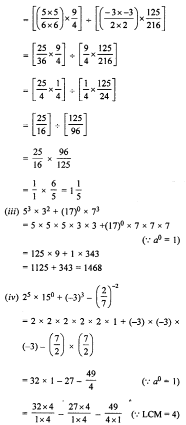 Selina Concise Maths class 7 ICSE Solutions - Exponents (Including Laws of Exponents)-5b.....