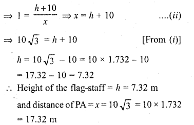 RD Sharma Class 10 Solutions Chapter 12 Heights and Distances Ex 12.1 - 20a