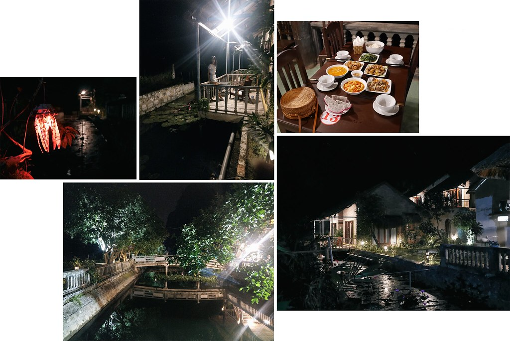 Night view at the Ninh binh retreat