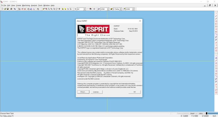 Working with ESPRIT 2018 R2 FULL LICENSE