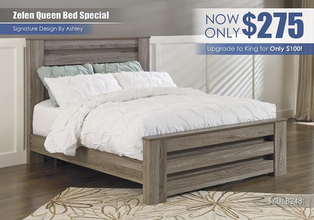 Zelen Queen Bed Special_B248-67-64-98