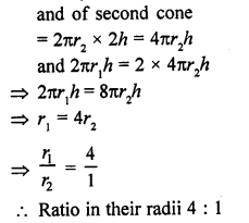 RD Sharma Mathematics Class 9 Solutions Chapter 20 Surface Areas and Volume of A Right Circular Cone