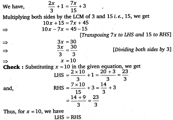 NCERT Solutions for Class 8 Maths Chapter 2 Linear Equations In One Variable 39