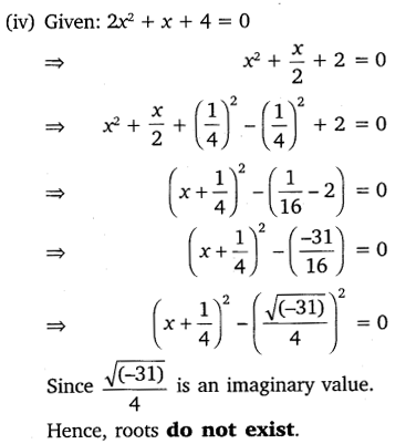 NCERT Solutions for Class 10 Maths Chapter 4 Quadratic Equations 15