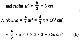 RD Sharma Class 9 Solutions Chapter 21 Surface Areas and Volume of a Sphere MCQS 5