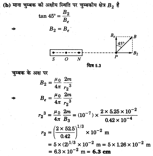 UP Board Solutions for Class 12 Physics Chapter 5 Magnetism and Matter Q15.1