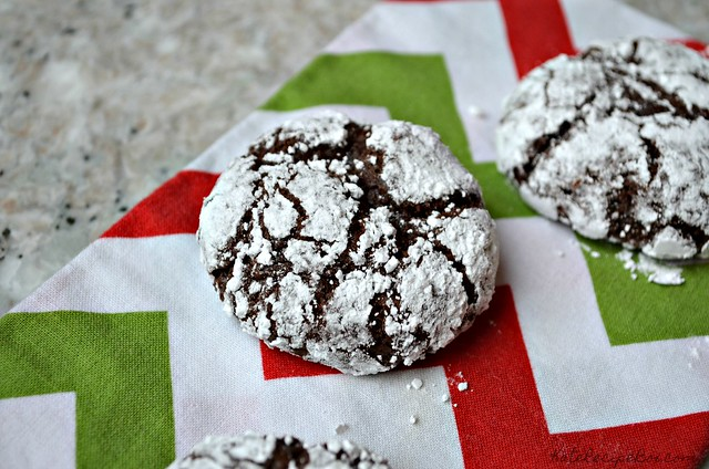 Chocolate Orange Crinkle Cookies 6