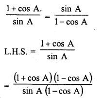 RD Sharma Class 10 Solutions Chapter 11 Trigonometric Identities Ex 11.1 - 36a