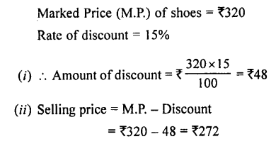 Selina Concise Mathematics class 7 ICSE Solutions - Profit, Loss and Discount-c3