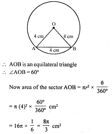 RD Sharma Class 10 Solutions Chapter 13 Areas Related to Circles Ex 13.2 - 24