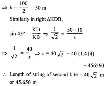 RD Sharma Class 10 Solutions Chapter 12 Heights and Distances Ex 12.1 - 74a