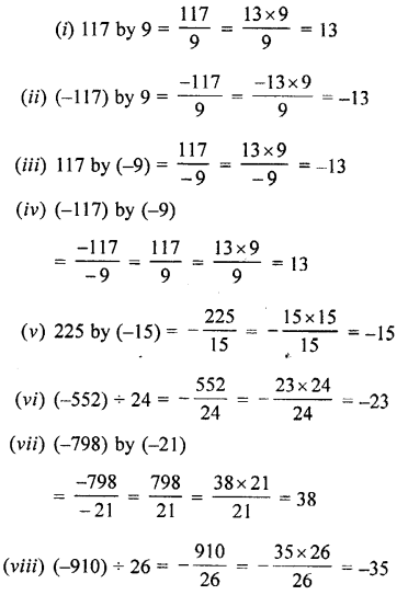 Selina Concise Maths class 7 ICSE Solutions - Integers-1b