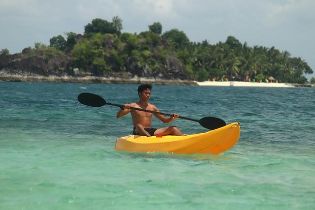 Kayaking at Bisaya-Bisaya Islet