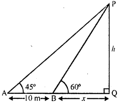 RD Sharma Class 10 Solutions Chapter 12 Heights and Distances Ex 12.1 - 12