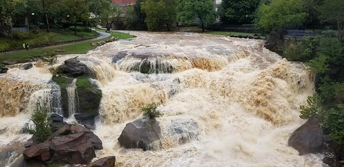 Reedy Falls after Tropical Storm Michael.  Photo by Charlie Jones.