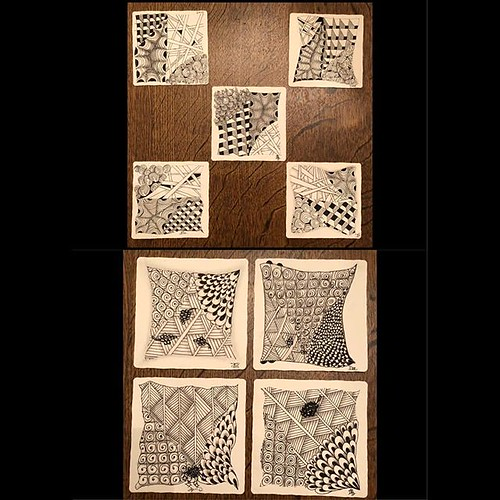 """Introduction to Zentangle"" class tiles"