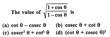 RD Sharma Class 10 Solutions Chapter 11 Trigonometric Identities MCQS - 4