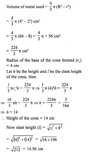 RD Sharma Class 10 Solutions Chapter 14 Surface Areas and Volumes Ex 14.1 26