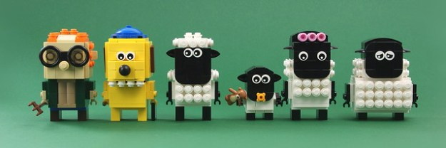 Once More They Have Created Near Perfect Copies Ably Translating The Emblematic Modelling Clay Characters Into LEGO From Bitzer Sheep Dogs Buckteeth