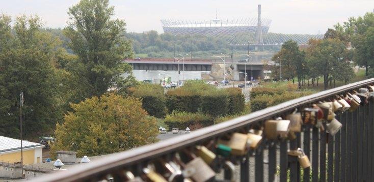 Stadium and bridge, Warsaw, Poland