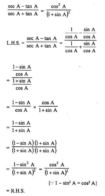 RD Sharma Class 10 Solutions Chapter 11 Trigonometric Identities Ex 11.1 - 35a