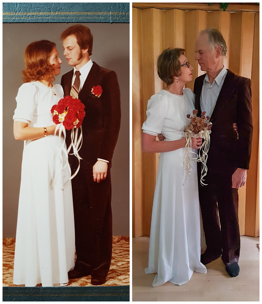 Wedding Gown For Parents: My Parents 40th Wedding Anniversary, Wearing The Same