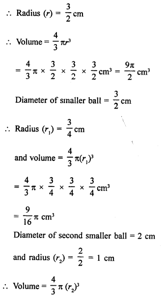 RD Sharma Class 9 Solutions Chapter 21 Surface Areas and Volume of a Sphere Ex 21.2 7
