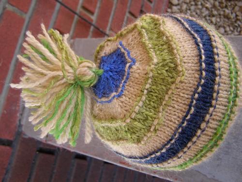 scrap-happy mountain mohair hat - top