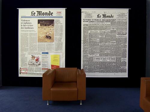 Salle d'attente au journal Le Monde