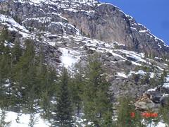 Snow slide above SR 20 - Week 5