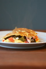 Smoked Salmon, Roasted Poblano, and Goat Cheese Omelet 2